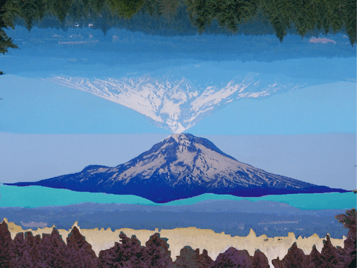 Mt. Hood mirror